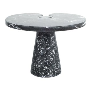 Angelo Mangiarotti Side Table Eros Black Marquina Marble, Italy For Sale