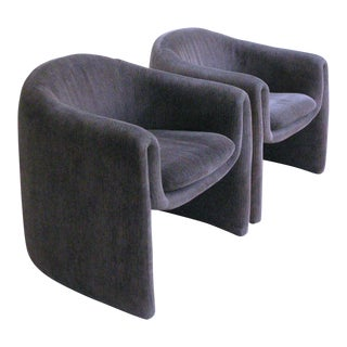 Vladimir Kagan for Preview Biomorphic Freeform Minimalist Armchairs - a Pair For Sale