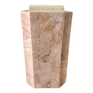 Pink Tessellated Stone Vase For Sale