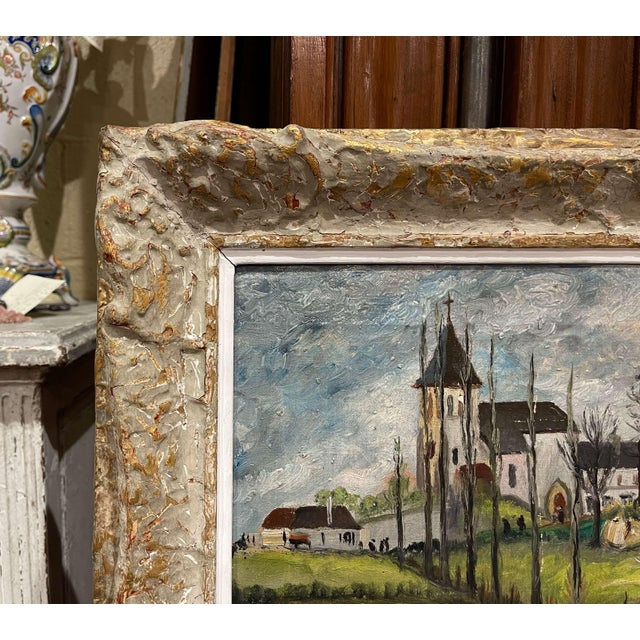 Early 20th Century French Oil on Canvas Painting Signed P. Farge For Sale In Dallas - Image 6 of 13