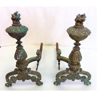 Antique Bronze Andirons - A Pair Preview