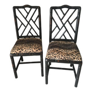 Sarreid English Bamboo Sides Chair - A Pair