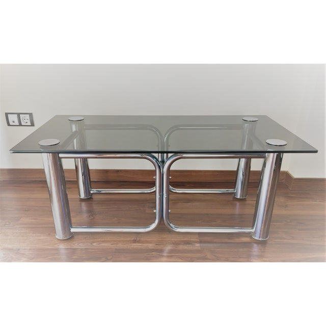 Mid-Century Modern Chrome Coffee Table - Image 4 of 11