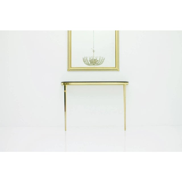 Solid Brass and Glass Wall Console, 1960s For Sale - Image 9 of 10