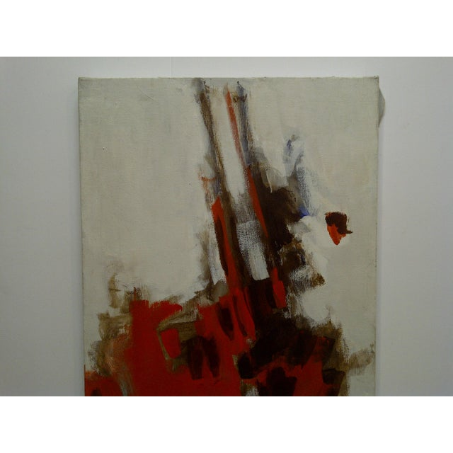 """This is an original signed painting on xanvas that is titled """"Red Explosion"""" painted by Frederick McDuff. Frederick McDuff..."""
