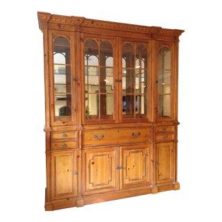 Drexel Heritage Pinehurst Lighted China Cabinet For Sale