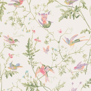 Cole & Son Hummingbirds Botanic Wallpaper - 14067 - Price Per 11 Yard Roll For Sale