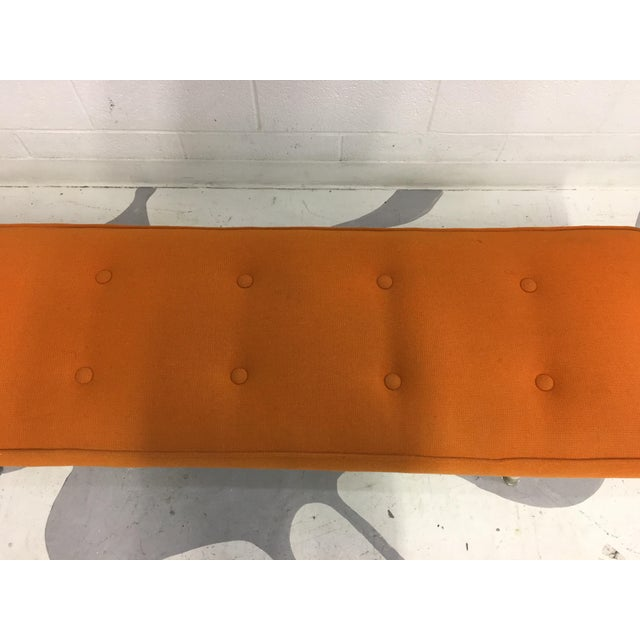 Mid-Century Modern Orange Bench - Image 6 of 6