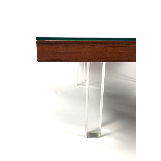 Brown 1967 Milo Baughman Rosewood and Lucite Coffee Tables - a Pair For Sale - Image 8 of 10