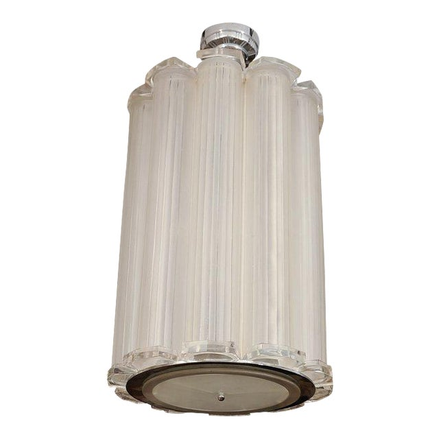 French Art Deco Ceiling Pendant Attributed to Sabino For Sale