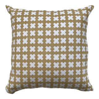 Greige Textiles Felix Wheat on Oyster Pillow For Sale