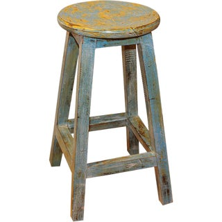 Indonesian Wooden Counter Stool For Sale