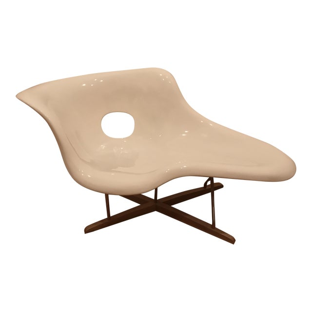 Eames La Chaise White Lounge Chair - Image 1 of 7