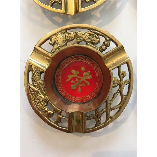 Brass Asian Ashtrays - Set of 4 - Image 4 of 9