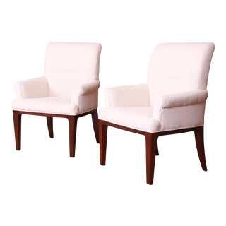 Bill Sofield for Baker Furniture Modern Upholstered Lounge Chairs, Pair For Sale