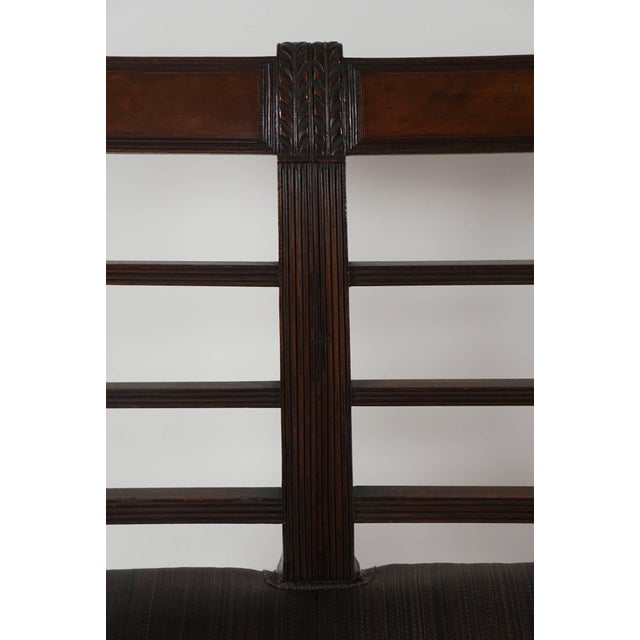 Late 18th Century Mahogany Settee, England, Circa 1795 For Sale - Image 5 of 10
