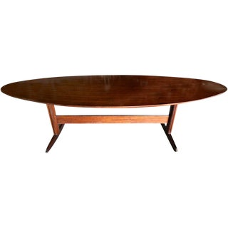Brazilian Jacaranda Oval Dining Table For Sale