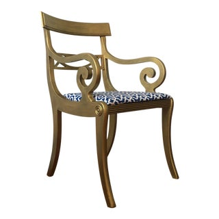 Hollywood Glam Style Gold Accent Chair