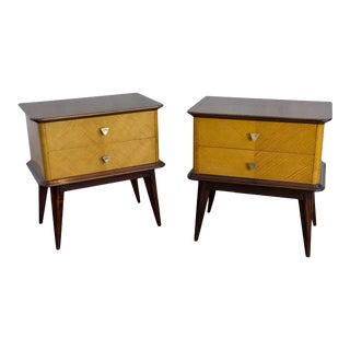Pair of French 1950s Night Tables For Sale