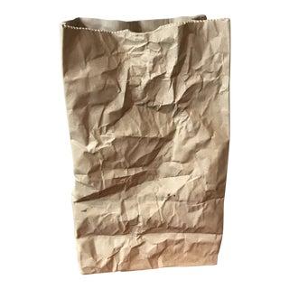 Vintage Ceramic Illusions Paper Bag Vase For Sale