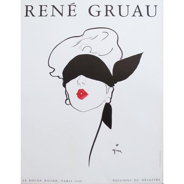 1980s French Rene Gruau Fashion Makeup Ad For Sale