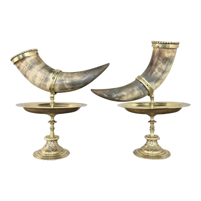Pair 19th Century Bronze-Mounted Horn Bookends For Sale
