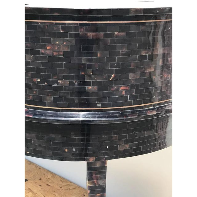 1970s Hollywood Regency Maitland Smith Tessellated Horn Carlton House Desk For Sale - Image 9 of 11