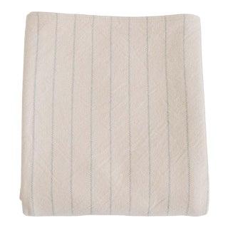 Pinstripe Blanket in Classic Grey, Full/Queen For Sale