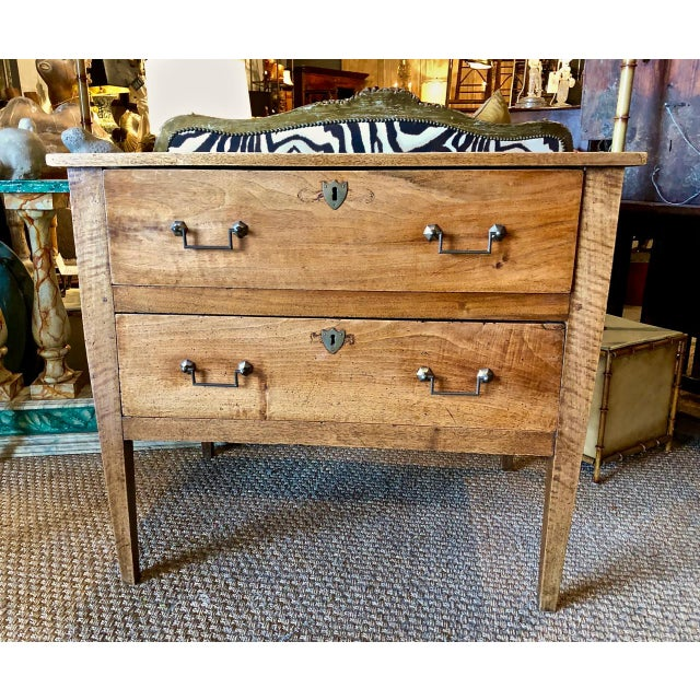 Italian Walnut Neoclassical Chest of Drawers For Sale - Image 10 of 12