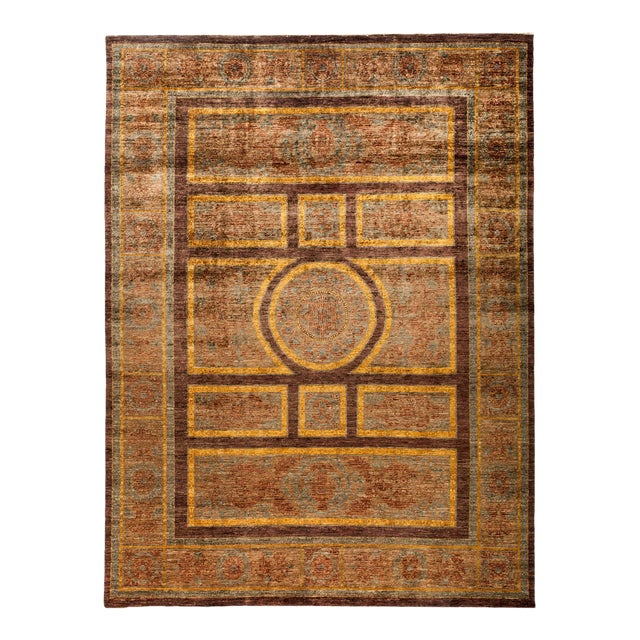 """New Hand Knotted Area Rug - 9' x 11'10"""" For Sale"""