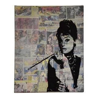 Mixed Media Comic Collage Painting For Sale
