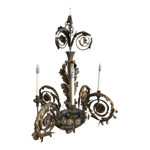 Late 19th Century Antique Chandelier For Sale