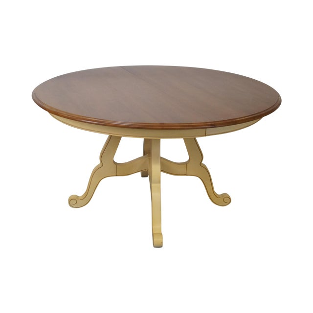 Ethan Allen Country French Round Dining Table
