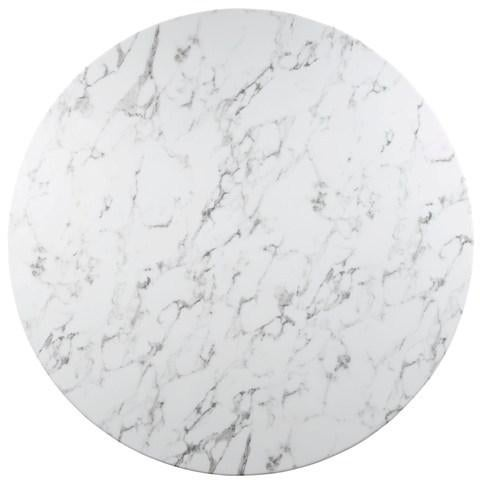 Tulip Style Marble Top Dining Table - Image 2 of 2