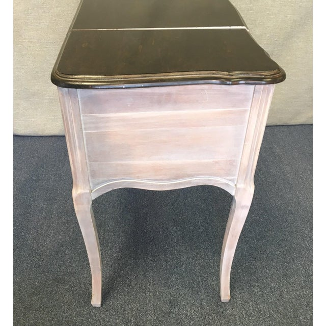 French Vintage 1940's Beach Aged Vanity For Sale - Image 3 of 9