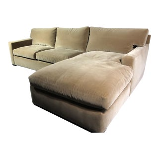 A. Rudin Left Arm Facing Sectional For Sale