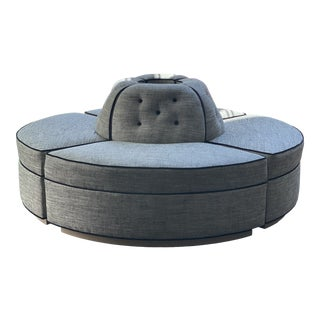 Global Views Round Conversation Rondel Sofa For Sale