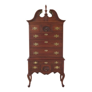 Queen Anne Henkel Harris Cherry Philadelphia 3 Piece Highboy For Sale