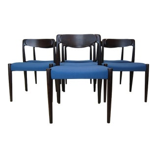 Danish Mid-Century Rosewood Sculpted Dining Chairs - Set of 7 For Sale