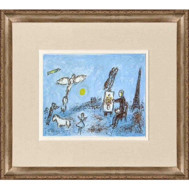 Marc chagall le peintre et son double 1981 framed for Chagall peintre
