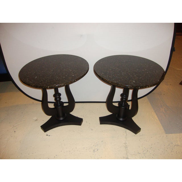Art Deco Ebony Based End Tables - A Pair - Image 2 of 9
