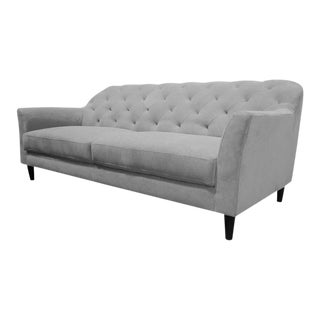 Parker Hill Urban Home Gray Tufted Sofa