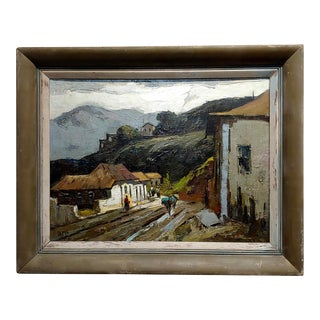 """Donald McIntyre """"Rural Village in the Highlands"""" Oil Painting For Sale"""
