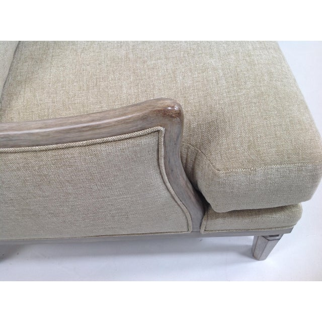 Fabric Chenille Ceruse Gray Lounge Chairs - A Pair For Sale - Image 7 of 9