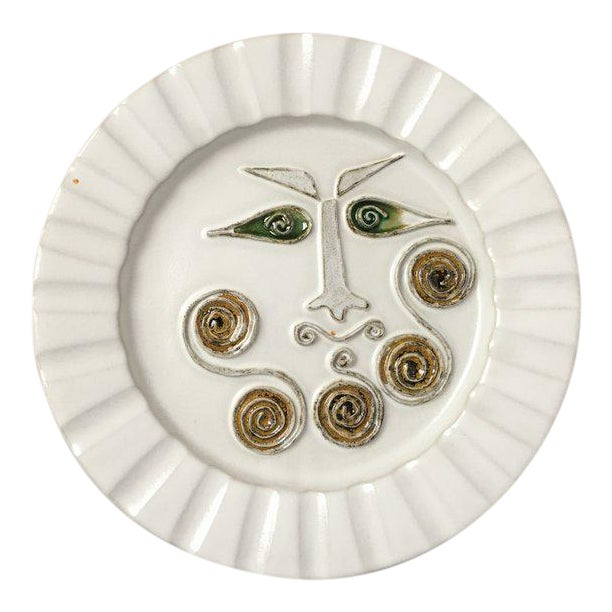Mid-Century Modern Bennington Potters White Decorative Plate For Sale