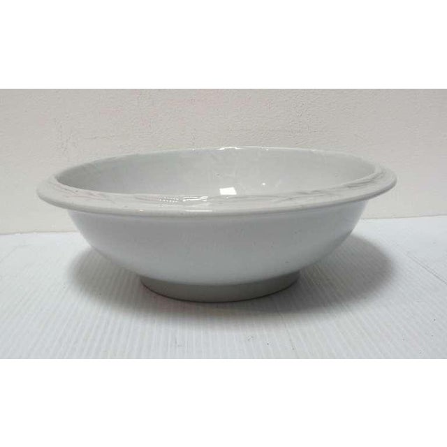 This large snow white English ironstone basin or serving bowl is in mint condition. This large bowl is great for fruit in...