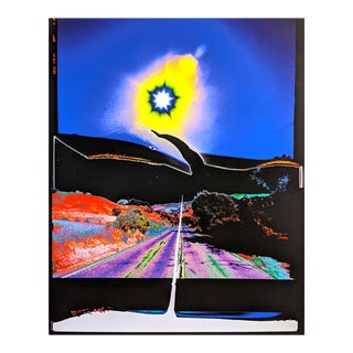 """Contemporary Abstract Photography and Paint on Wood """"Psych Canyon"""" by Jason Engelund For Sale"""