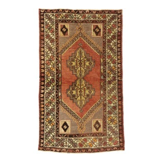 Vintage Turkish Oushak Accent Rug - 03'07 X 06'01 For Sale