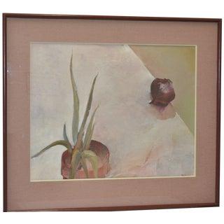 Vintage 1980s Carol Fremlin Still Life Oil Painting