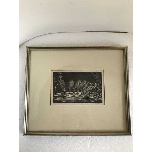 1928 Signed Zebra Lithograph - Image 10 of 10